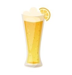 Beer cup glass vector