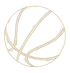 Basketball ball hand drawn sketch vector