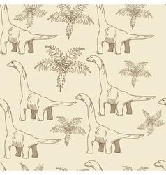 Brontosaurus seamless retro vector image