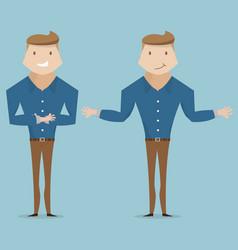 Businessman characters design cartoon vector