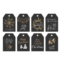 Christmas tag collection vector image vector image