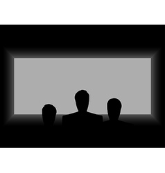 Cinema theater light from the screen vector