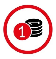 Coins icon vector