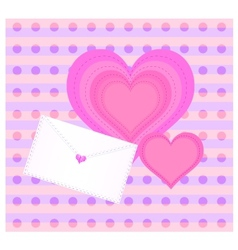 Decorative background with envelope and heart vector image