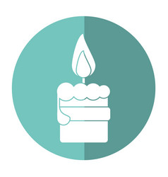 Easter candle flame with ribbon decoration shadow vector