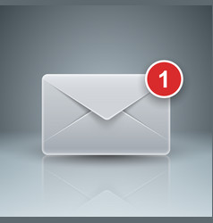 Email and mail icon abstract 3d infographic vector