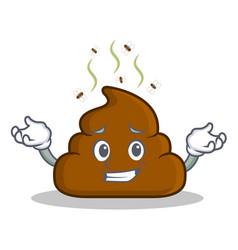 Grinning poop emoticon character cartoon vector