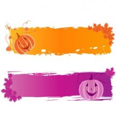 Halloween banners with pumpkin vector image vector image