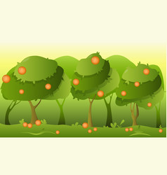 Landscape orange garden vector