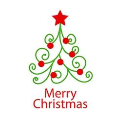 Logo decorative christmas tree vector