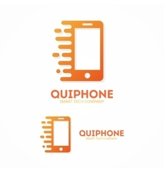 logo phone in motion vector image