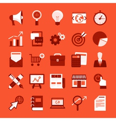 Marketing icons vector