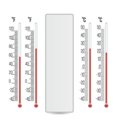 meteorology thermometer scale celsius vector image