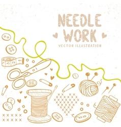 Needle work vector image
