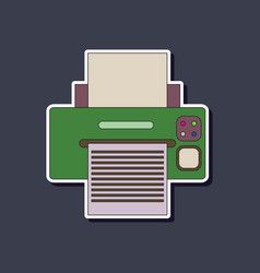Paper sticker on background of printer vector