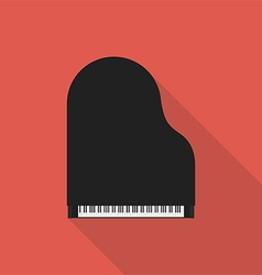 Piano retro vintage icon flat design vector image
