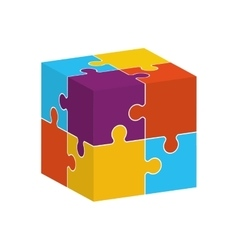 Puzzle jigsaw game figure icon graphic vector