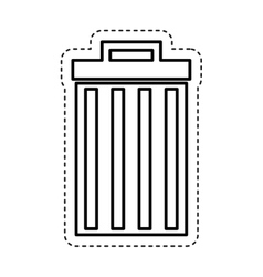 Recycle bin delete icon vector