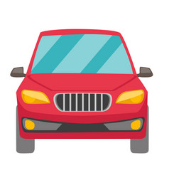 red car cartoon vector image