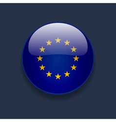 Round icon with flag of europe vector