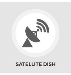 Satellite antenna flat icon vector image vector image