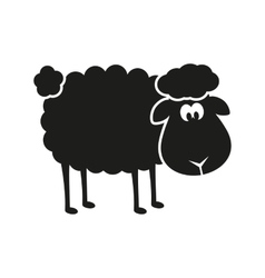 sheep stencil vector image