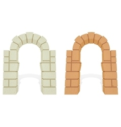 Stone architectural isometric 3d arch vector image vector image