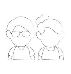 Upperbody cute couple vector