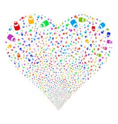 Vial fireworks heart vector