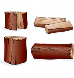 Wood log vector