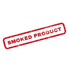 Smoked product rubber stamp vector