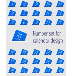 Set of calendar icons with numbers vector