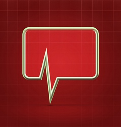Medical forum application alert icon vector