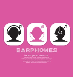 Earphones eps10 vector