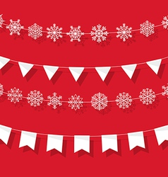 Christmas garland vector