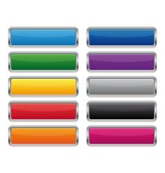 Metallic rectangular buttons vector