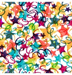 Holiday seamless pattern with shiny celebration vector