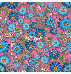 abstract blue spring seamless floral ornament and vector image