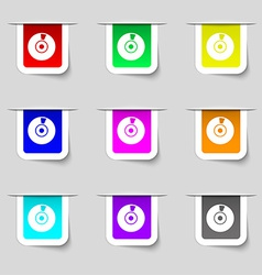 Cd or dvd icon sign set of multicolored modern vector