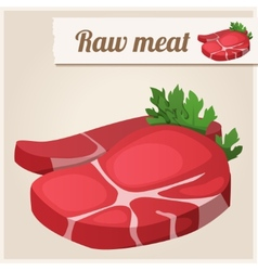 Raw fresh meat vector