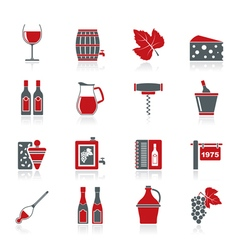 Wine industry objects icons vector