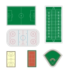 Set of sport fields vector