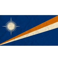 Marshall islands paper flag vector