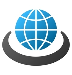 Global Network Gradient Icon vector image