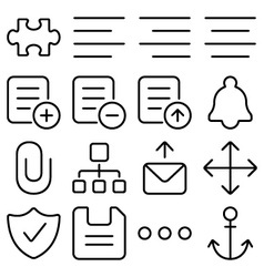 outline ui pack8 vector image