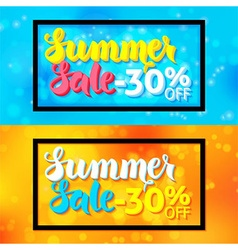 Summer sale horizontal website banners with black vector