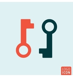 Key icon isolated vector