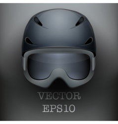 Background of Classic Ski helmet and snowboard vector image