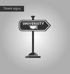 Black and white style icon university sign vector