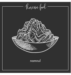 bowl of delicious namnul from traditional korean vector image vector image